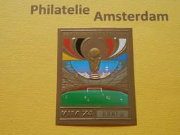 Dahomey 1974, GOLD / WORLD CUP WEST GERMANY / FOOTBALL VOETBAL FUSSBALL FUTBOL CALCIO: Mi 610, Type B, ** - 1974 – West Germany