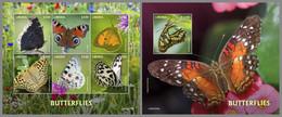 LIBERIA 2020 MNH Butterflies Schmetterlinge Papillons M/S+S/S - OFFICIAL ISSUE - DHQ2039 - Butterflies