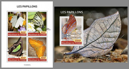 CHAD 2020 MNH Butterflies Schmetterlinge Papillons M/S+S/S - OFFICIAL ISSUE - DHQ2039 - Butterflies