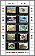 CHAD 2020 MNH WWF M-Countries M-Länder Pays-M M/S I - OFFICIAL ISSUE - DHQ2039 - Unused Stamps