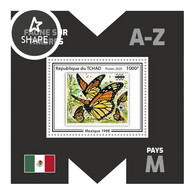 CHAD 2020 MNH WWF M-Countries M-Länder Pays-M Mexico 1988 S/S IX - OFFICIAL ISSUE - DHQ2039 - Unused Stamps