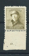 N° 166.MNH AVEC N° DE PLANCHE 13. - 1919-1920 Roi Casqué