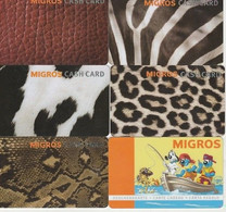 6 CARTES SUISSES MIGROS - Frankreich