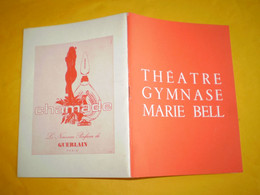 Theatre Du Gymnase, Marie Bell, Le Canard à L'Orange, Pierre Mondy, Jean Poiret, Christiane Minazzoli ...photos,pubs - Programas