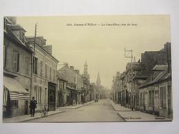 Cpa COSNE D'ALLIER (03) La Grande Rue (vue Du Bas ) - Sonstige Gemeinden
