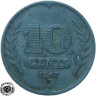 LaZooRo: Netherlands 10 Cents 1942 VF / XF - 10 Cent