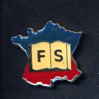 Pin's Carte De France  Livre F S - Medien