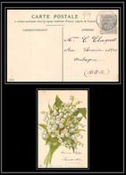 Lettre-110979 Bouches Du Rhone N°111 Blanc Aubagne Carte Postale Muguets - 1877-1920: Semi Modern Period