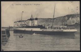 """CPA - (76) Dieppe - Départ Du """"Brighton"""" - Dieppe"""
