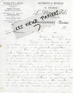 85 - Vendée - CHANTONNAY - Facture DENIS - Menuiserie D'art Et Ordinaire - 1913 - REF 161C - 1900 – 1949