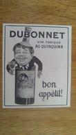 AFFICHE PUBLICITE - DUBONNET  AU QUINQUINA - Afiches