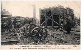 28 Catastrophe De COURVILLE Près Chartres Train Rapide Paris à Rennes Tamponne Train De Marchandises - Courville