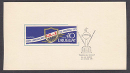 Chile 1971 - Club National De Football - Campeon Copa Libertadores De America, Post Card With Spec. Canelation - Chile