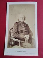 Photo CDV Second Empire - Abbé Deguerry  Curé De La Madeleine - Fusillé Durant La Commune En 1871 - Identifié - TBE - Ancianas (antes De 1900)