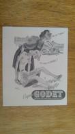 AFFICHE PUBLICITE -  COGNAC GODET - Afiches