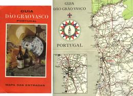 "Topographie Landkarte 1972 Deko "" Portugal Guia Dao Grao Vasco Mapa Des Estradas "" - Topographische Karten"