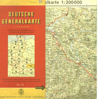 """Topographie Landkarte 1956 1:200.000 Deko Shell Reklamekarte 20  """" Bayrischer Wald Regensburg """" - Topographische Karten"""