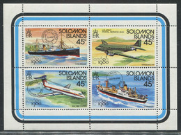 SALOMON - N° 406 A 409 -* * - AVIONS & BATEAUX - LUXE - Salomoninseln (Salomonen 1978-...)