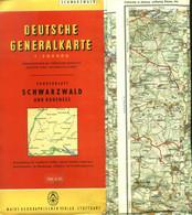 """Topographie Landkarte 1955 1:200.000 Deko Shell Reklamekarte """" Schwarzwald Und Bodensee """" - Topographische Karten"""