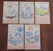 Illustrateur G. Duché - Bébé, La Croissance, Toilette, Bain, Allaitement, Biberons, Layette - Andere Illustrators