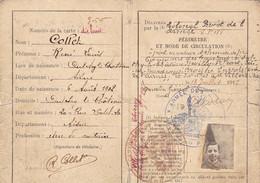 RARE / CARTE DE CIRCULATION DANS LES ZONES ARMEES / COLLET LOUIS / OULCHY LE CHATEAU / AISNE 1917 - 1914-18