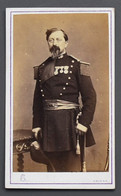 Photographie Originale-Amiens- Commandant-Jean François Vogel - 1821-1870 -Photog. Albert Caron-10 X 5,50 Cm - Vers 1860 - Guerra, Militari