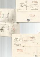 3 Lettres De SEDAN 1848  R FRONT Et Marque De Passage Frontière : France Par Bouillon +1 X  7 MEZIERES + 1 X Sedan - 1801-1848: Précurseurs XIX