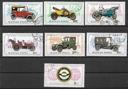 UNGHERIA 1975 ANNIVERSARIO DELLA FONDAZIONE MAGYAR AUTOKLUB YVERT. 2425-2431 USATA VF - Used Stamps