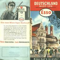 "Topographie Landkarte 1955 Deko Esso "" Blatt SÜD "" Verlag: Esso Hamburg - Topographische Karten"