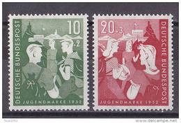 Men_ Bund 1952 - Mi.Nr. 153 - 154 - Postfrisch MNH - BRD