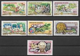 UNGHERIA 1975 DOTTORE ALBERT SCHWEITZER YVERT. 2414-2420 USATA VF - Used Stamps