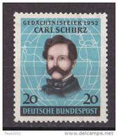 Men_ Bund 1952 - Mi.Nr. 155 - Postfrisch MNH - BRD