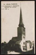 Carte Photo - Riga - Lettonie - Jekaba Katedrale - Circulée En 1938 - 2 Scans - Letonia