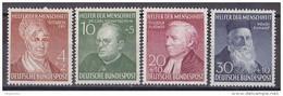 Men_ Bund 1952 - Mi.Nr. 156 - 159 - Postfrisch MNH - BRD