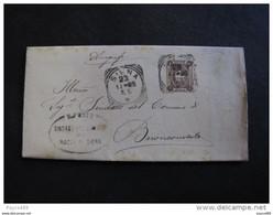 """3015 ITALIA Regno-1896-97- """"Stemma"""" C. 1 SIENA>BUONCONVENTO (descrizione) - Storia Postale"""