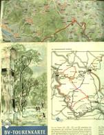 """Topographie Landkarte 1955 Deko BV-Bochum = Aral Tourenkarte """" Blatt: Taunus """" Verlag: BV-Aral - Topographische Karten"""