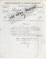 86 - Vienne - BONNES - Facture VACHON - Menuiserie, ébénisterie - 191? - REF 161C - 1900 – 1949
