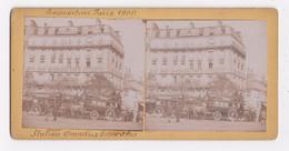 CARTE STEREO 75 PARIS Station Omnibus Trocadero - Cartoline Stereoscopiche