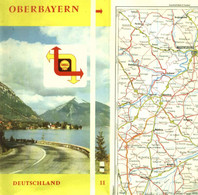 "Topographie Landkarte 1959 Deko Shell Tourenkarte #8 "" Blatt: Franken + Oberbayern "" Verlag: Shell - Topographische Karten"
