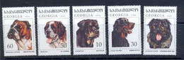 125 Géorgie (Georgia) N° 191 / 195 Chiens (chien Dog Dogs) COTE 6 EUROS - Georgia