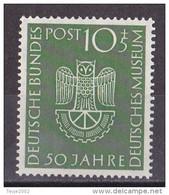 Men_ Bund 1953 - Mi.Nr. 163 - Postfrisch MNH - BRD