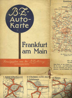 "Topographie Landkarte 1930 Deko BZ-Mittag-Autokarte "" Blatt: Frankfurt Main "" Verlag: Ullstein Berlin - Topographische Karten"