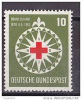 Men_ Bund 1953 - Mi.Nr. 164 - Postfrisch MNH - Rotes Kreuz Red Cross - BRD