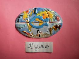 Lot De 6 Feves En Porcelaine - GLOBE - THALASSA DECOUVERTE II 2006  ( Feve Figurine Miniature ) - Fèves