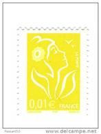 Lamouche 0.01 € Jaune  ITVF TYPE II ( Gravure Numérique - TD 215 ) YT 3731e Sans Phospho . Maury N° 3713 IIb : 32 € - Variedades: 2000-09 Nuevos