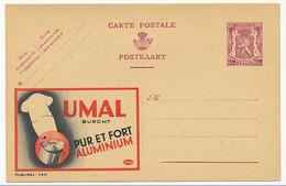 """BELGIQUE => Carte Postale - 65c Publicité """"UMAL Pur Et Fort Aluminium"""" - Publibel N°744 - Publibels"""