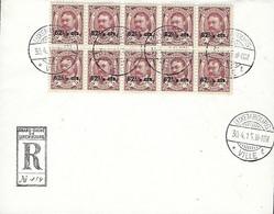 Luxembourg -  Luxemburg  Lettre - Brief 1915  RECOMMANDÉ - 1907-24 Ecusson