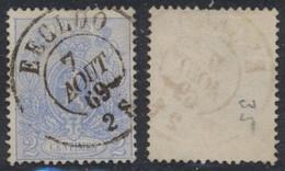 """Petit Lion Dentelé - N°24 Obl Double Cercle """"Eecloo"""" (1869). TB / Collection Spécialisée - 1866-1867 Coat Of Arms"""