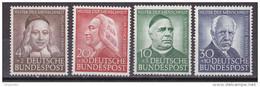 Men_ Bund 1953 - Mi.Nr. 173 - 176 - Postfrisch MNH - BRD