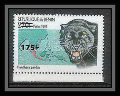Bénin Dahomey 373 Michel N°1392 Felins Panthere Neuf ** MNH  Surchargé (overprinted) Cote 60 Euros - Benin - Dahomey (1960-...)